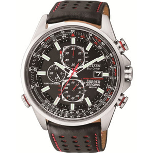 Citizen Red Arrows Radio Controlled Leather Strap Watch AT8060-09E