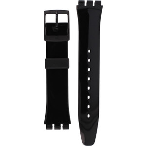 Swatch Watch Strap Classic Black Shiny 17mm AGB247