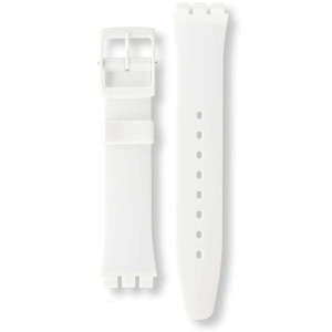 Swatch Watch Strap Classic White Just White AGW151 17mm With Free Battery