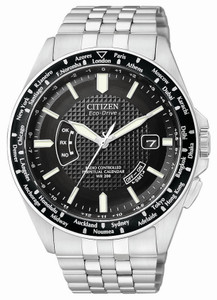 Citizen World Time Atomic Timekeeping Perpetual Calendar Eco-Drive Watch CB0020-50E