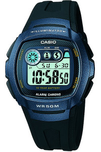 Casio Sports Chronograph Black Digital Watch W-210-1BVES