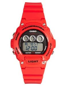 Casio Vibrant Red Digital Watch W-214HC-4AVEF