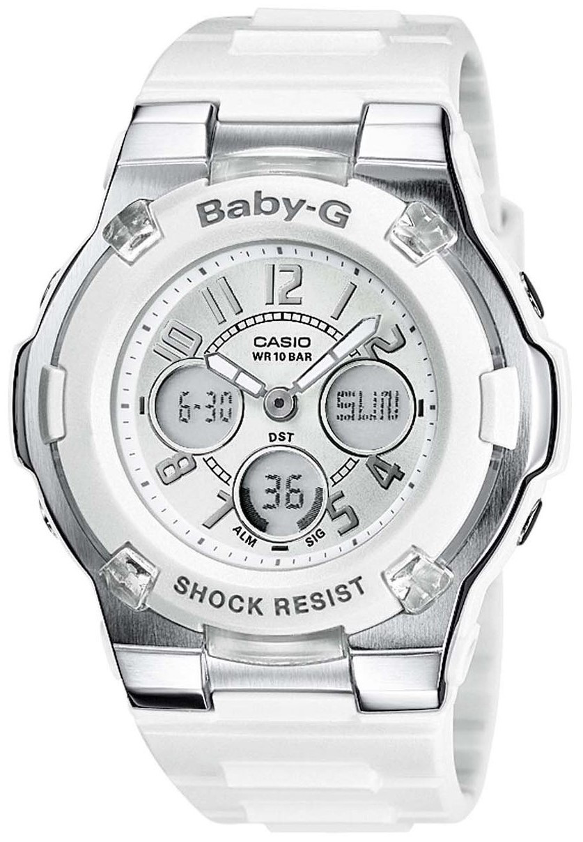 Product Review - White Baby G Watch Ladies Chronograph Alarm Watch BGA-110-7BER