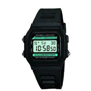 Casio Men's Retro Black Alarm Watch W-86-1VQES