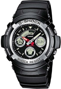Casio Men's G-Shock Alarm Watch Black AW-590-1AER