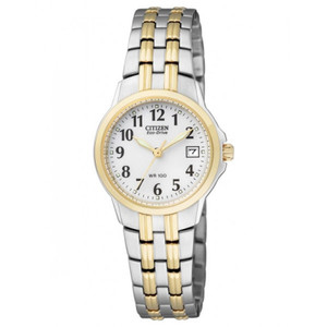 Citizen Ladies Eco-Drive Two-Tone Stainless Steel Watch EW1544-53A