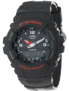 Casio G-Shock Black Chronograph Dual Display Watch G-100-1BVMUR