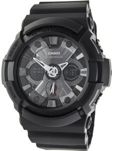 Black G-Shock Grey Chronograph Watch GA-201-1AER