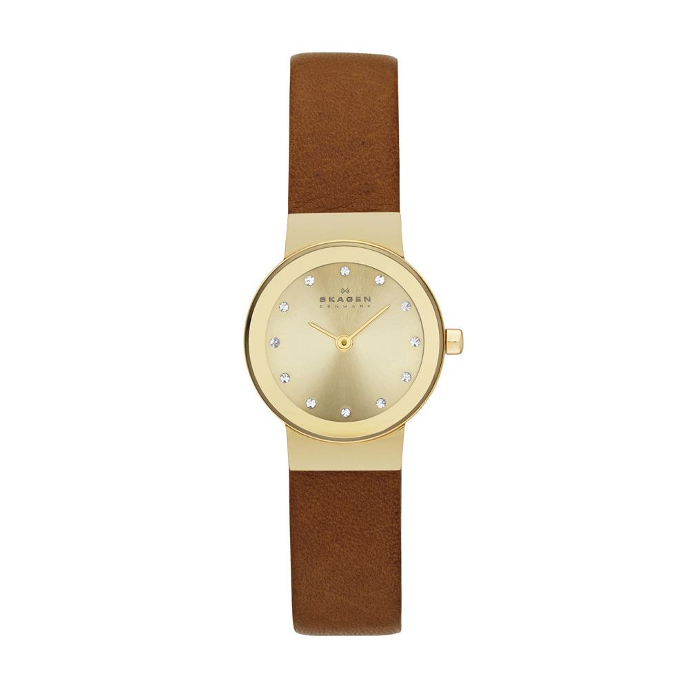 Product Review - Skagen Ladies Brown Leather Watch Slim Gold Dial SKW2175
