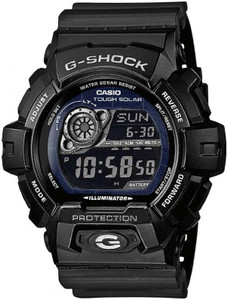 Casio G Shock Solar Powered Black Strap Black Dial Watch GR-8900A-1ER
