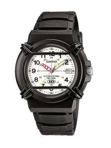 Casio Men's Analogue Black Strap White Dial Watch HDA-600B-7BVEF