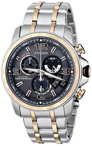 Citizen Men's Chronograph Atomic Timekeeping Watch BY0106-55H