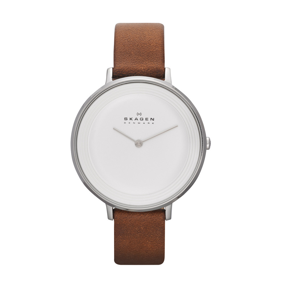 Watch Review - Skagen SKW2214 Ladies Brown Leather Strap White Dial Watch