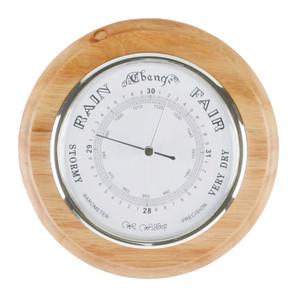 Widdop Wall Plaque Barometer Oak Finish