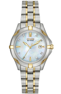 Citizen Ladies Two-Tone Diamond Watch EW1934-59D