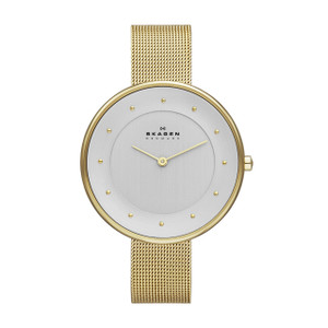 Skagen Gitte Ladies' Gold Mesh Strap Watch SKW2141