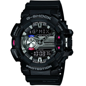 G-Shock G-MIX Bluetooth Music Control Chronograph Watch GBA-400-1AER