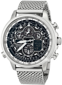 Citizen Navihawk Pilot Watch Black Dial Atomic Timekeeping JY8030-83E