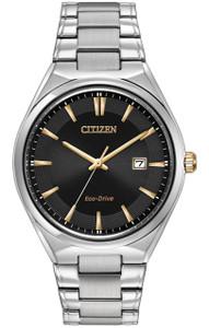 Citizen Men's Eco-Drive Black Dial Watch BM7310-56H