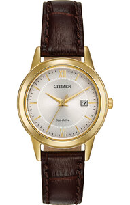 Citizen Classic Ladies Eco-Drive Gold Tone Watch FE1082-05A