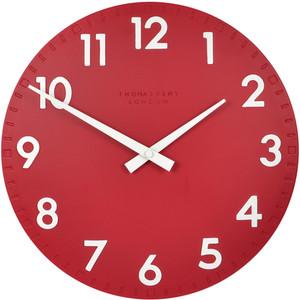 Thomas Kent Camden Designer Red Wall Clock (30 cm)