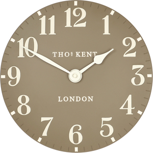 Thomas Kent Arabic Designer Wall Clock Taupe Colour (30 cm)