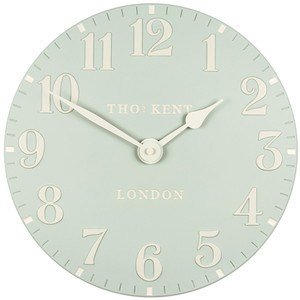Thomas Kent Arabic Wall Clock Duck Egg Colour (30 cm)