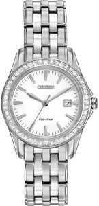 Citizen Silhouette Crystal Eco-Drive White Dial Watch EW1901-58A