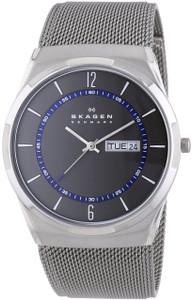 Skagen Men's Aktiv Titanium Mesh Bracelet Black Dial Multifunction Watch SKW6078
