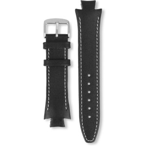Lacoste Replacement Watch Strap Black Genuine Leather For 3510G