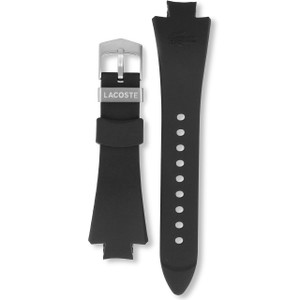 Lacoste Replacement Watch Strap Black Rubber For 3510G