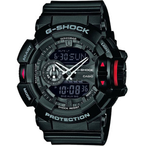 Casio G-Shock Scroll Wheel Black Alarm Chronograph Watch GA-400-1BER
