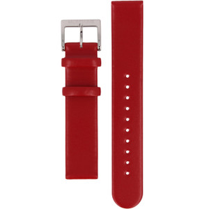 Mondaine Genuine Replacement Watch Strap Red Leather 18mm FE311830Q For Evo Watches