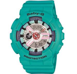 Baby-G Turquoise Alarm Chronograph Watch BA-110SN-3AER