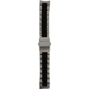 Armani Exchange Replacement Watch Bracelet For AX1214 Silver And Black Stainless Steel