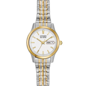 Citizen Ladies Eco-Drive Expansion Band Two-Tone Watch EW3154-90A
