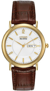 Citizen Men's Eco-Drive Watch with Leather Strap BM8242-08A