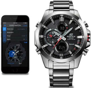 Casio Analogue Bluetooth Watch Edifice Tough Solar Chronograph Black ECB-500D-1AER