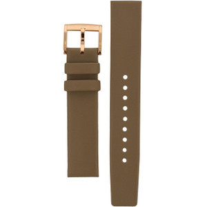 Marc Jacobs Replacement Watch Strap Grey Genuine Leather 18mm For MBM1266
