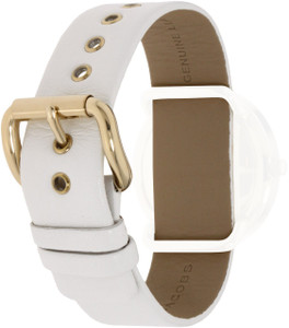 Marc Jacobs Replacement Watch Strap White Genuine Leather 20mm For MBM1150