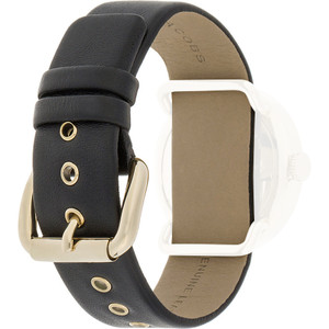 Marc Jacobs Replacement Watch Strap Black Genuine Leather 20mm For MBM1154