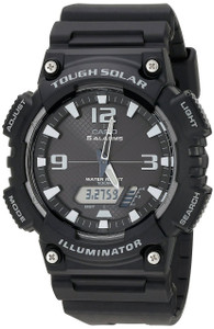 Casio Men's Tough Solar Black Sports Alarm Watch AQ-S810W-1A2VEF
