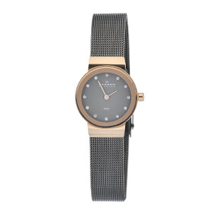 Skagen Ladies Freja Refined Black Mesh Strap Watch 358XSRM