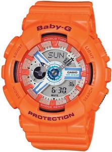 Baby-G Orange Watch Digital Analog Dial Chronograph BA-110SN-4AER