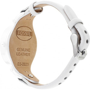 Fossil Replacement Watch Strap White Leather 8mm For ES2829