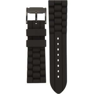 Fossil Replacement Watch Strap Black Rubber 24mm For FS4487