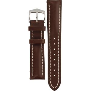 Hirsch Heavy Calf Replacement Watch Strap Brown Genuine Untextured Leather 20mm