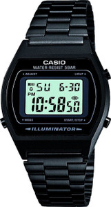 Casio B640WB-1AEF Unisex Quartz Watch with Grey Dial Digital Display and Black Stainless Steel Bracelet with Countdown Timer