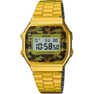 Casio Men's Classic Camoufllage Digital Display Gold Alarm Chronograph Watch A168WEGC-5EF