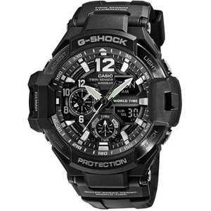 G-Shock Aviator Digital Compass Thermometer Black Chronograph Premium Watch GA-1100-1AER